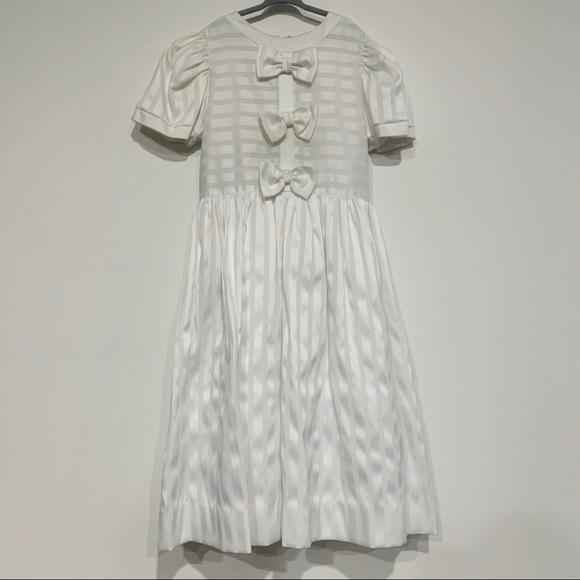 Sylbia Whyte Other - Vintage White Girls Flower Girl Dress Bows Sz 10